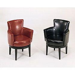 Captivating Bicast Leather Swivel Club Chair | Overstock™ Shopping   Great Deals On  Living Room Chairs