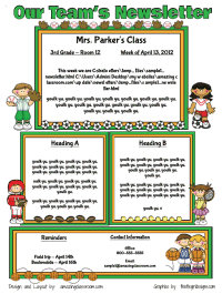 Custom Classroom Newsletter Printable  Sample Home  Food