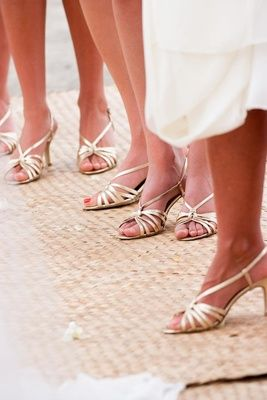 Gold Bridesmaid Shoes Photography Pinsky Read More Http Www Shoesbeach Weddingshawaiian