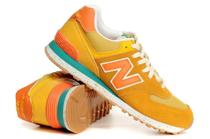 new balance 574 trainers yellow