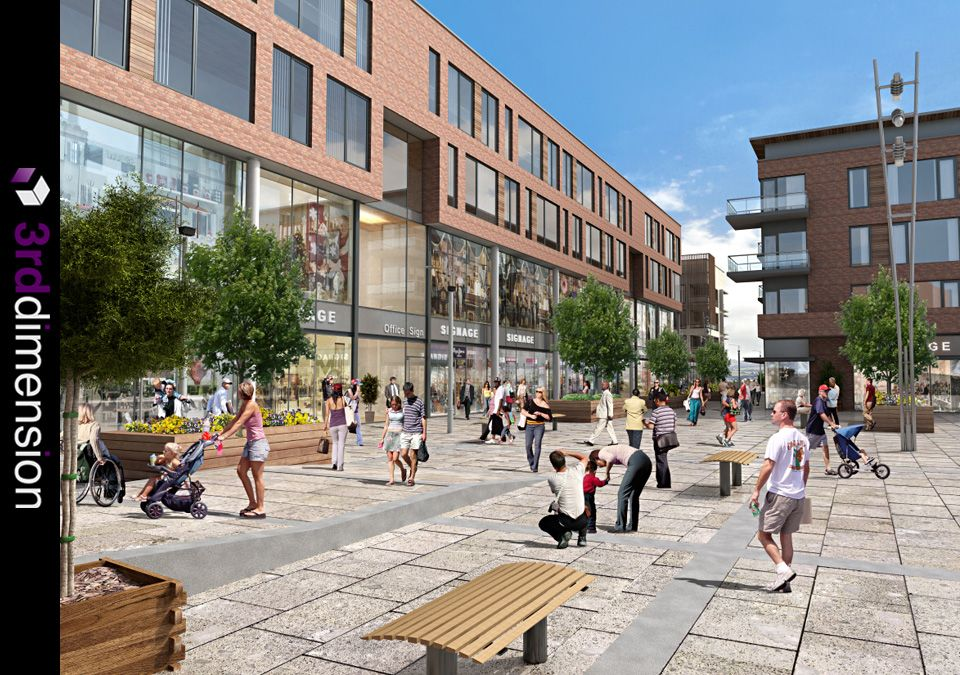 Mixed Use Development - Architectural Rendering, Proposed Large Scale Mixed Use Development, Ireland