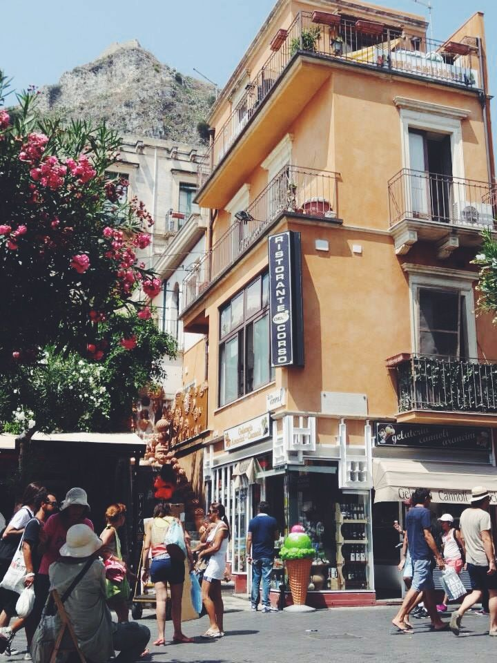 The beautiful scenery and heat of this Mediterranean island is to die for. Taormina of Messina, Sicily is one of the cutest places with vibrant colours, art on every wall, cobblestone streets, and, not to mention, the best cannoli imaginable