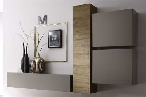 composition murale malaga beige et imitation ch ne miel d co int rieure pinterest meuble. Black Bedroom Furniture Sets. Home Design Ideas