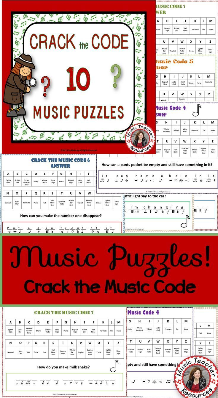 Music Puzzles Crack The Music Code North American Terminology