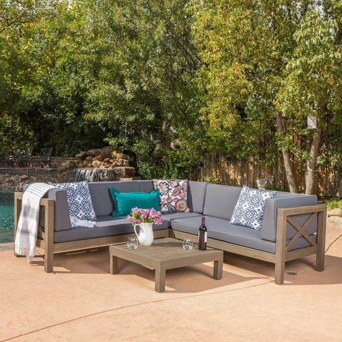 Found It At Wayfair Lejeune 4 Piece Outdoor Seating Group With Cushion Outdoor Sectional Outdoor Sofa Sets Outdoor Sofa