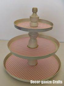 Decor-ganize Crafts Tiered Dessert Plates -With interchangeable designs! & Decor-ganize Crafts: Tiered Dessert Plates -With interchangeable ...
