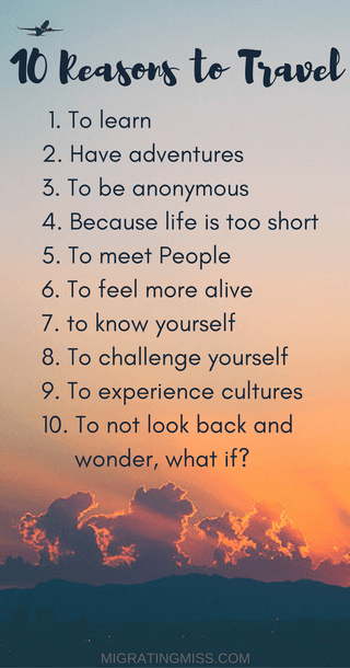 But Really, Why Do You Travel?