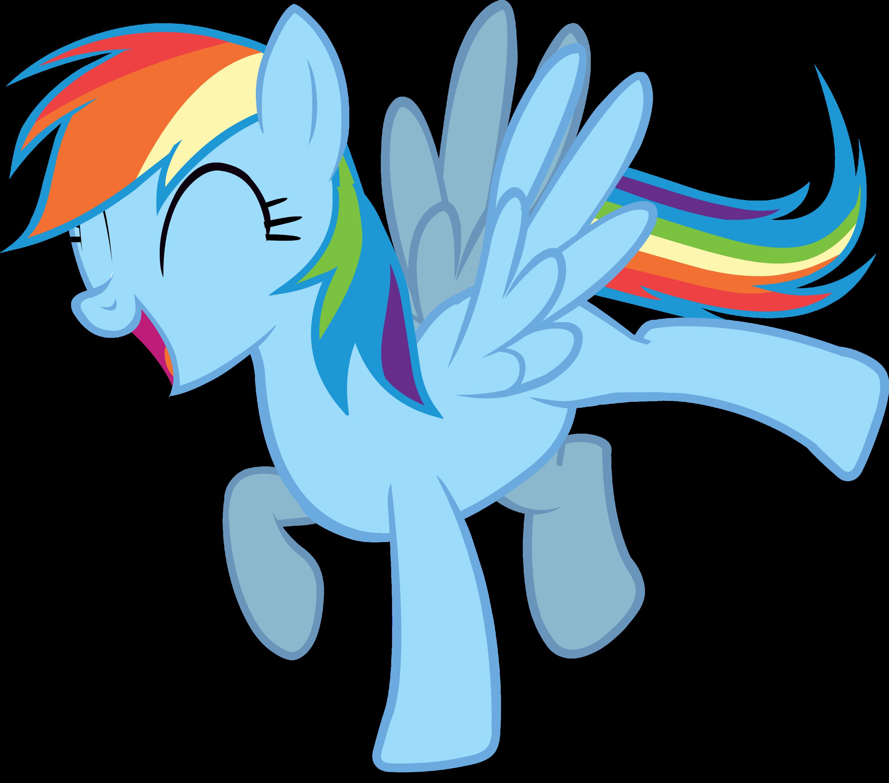 My Little Pony Happy Rainbow Dash Pinkie Pie Party Time Vector