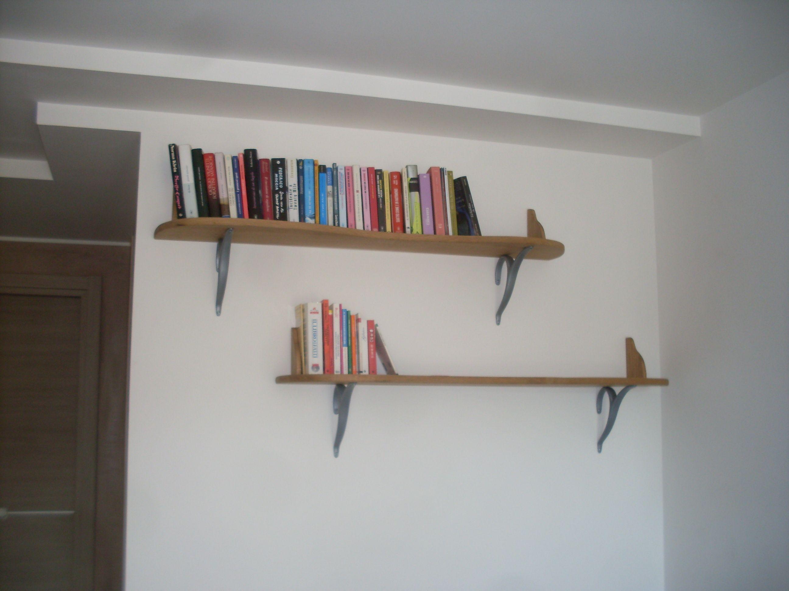 Mensole in legno massello con reggimensole a y