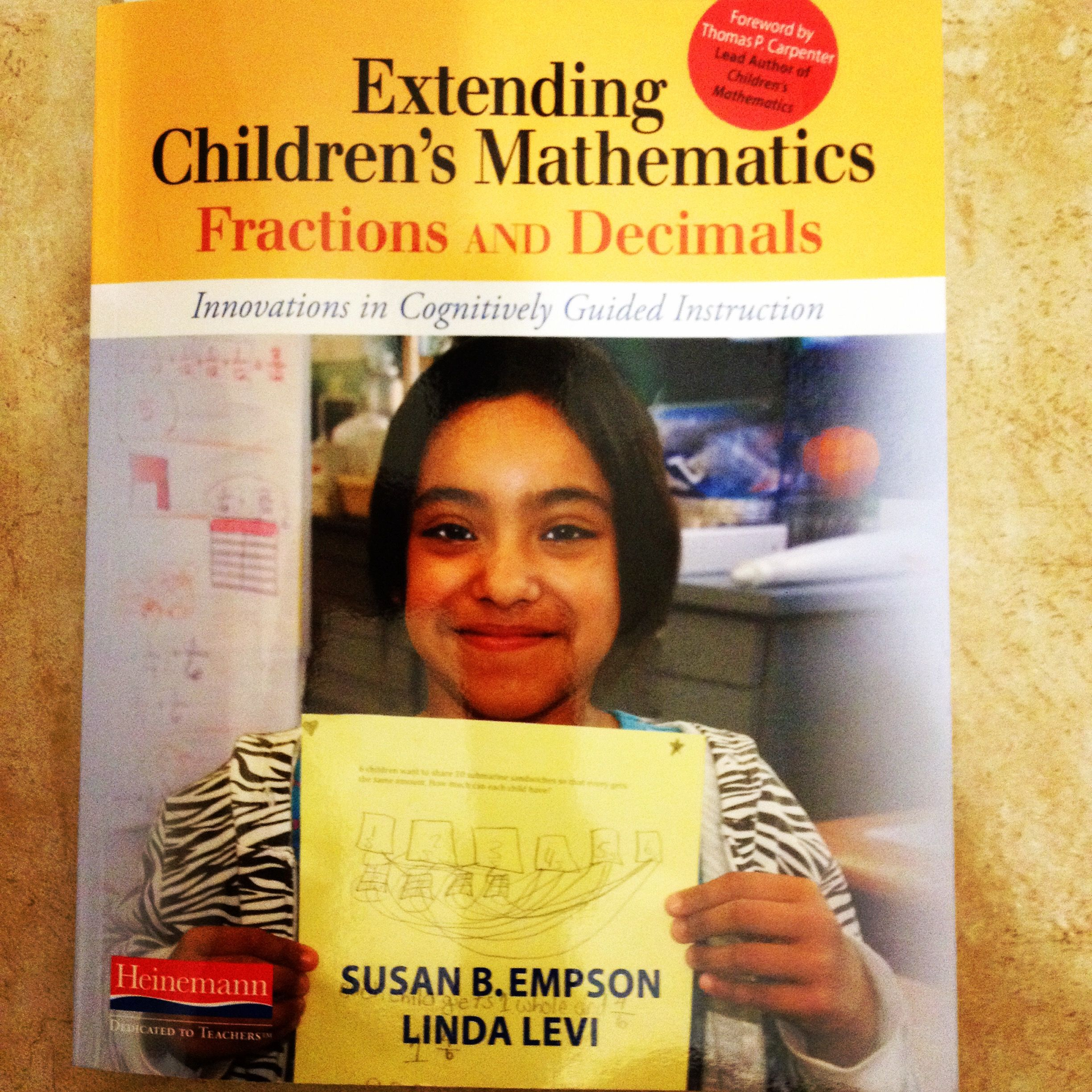 GREAT book for understanding and guiding students through the process of learning all about fractions and decimals: Extending Children's Mathematics