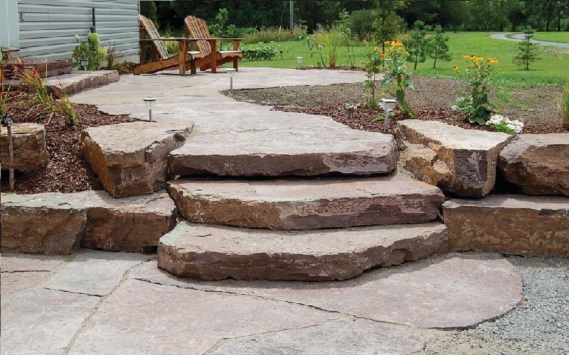 Canadien Caramel Backyard Landscaping Garden Stairs Patio Landscaping