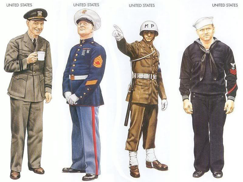 World War II Uniforms - United States – 1941 Dec., Pacific ...