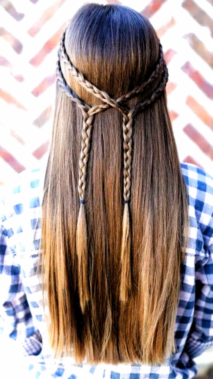 101 Pinterest Braids That Will Save Your Bad Hair Day Double Braid Tie Back 80s Hair In 2020 Hair Styles Long Hair Styles Bad Hair
