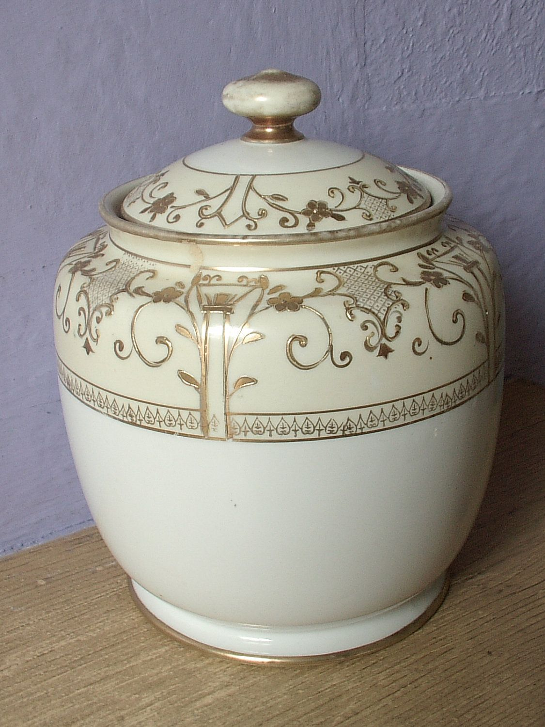 Nice Cookie Jars Antique 1920 39s Nippon Biscuit Jar Hand Painted Canister