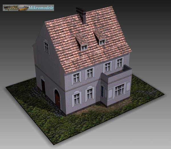 A Paper Model House For Diorama Free Template