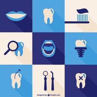 63755fb8e ícones dentais ajustaram. ícones dentais ajustaram Sorriso Dentista ...