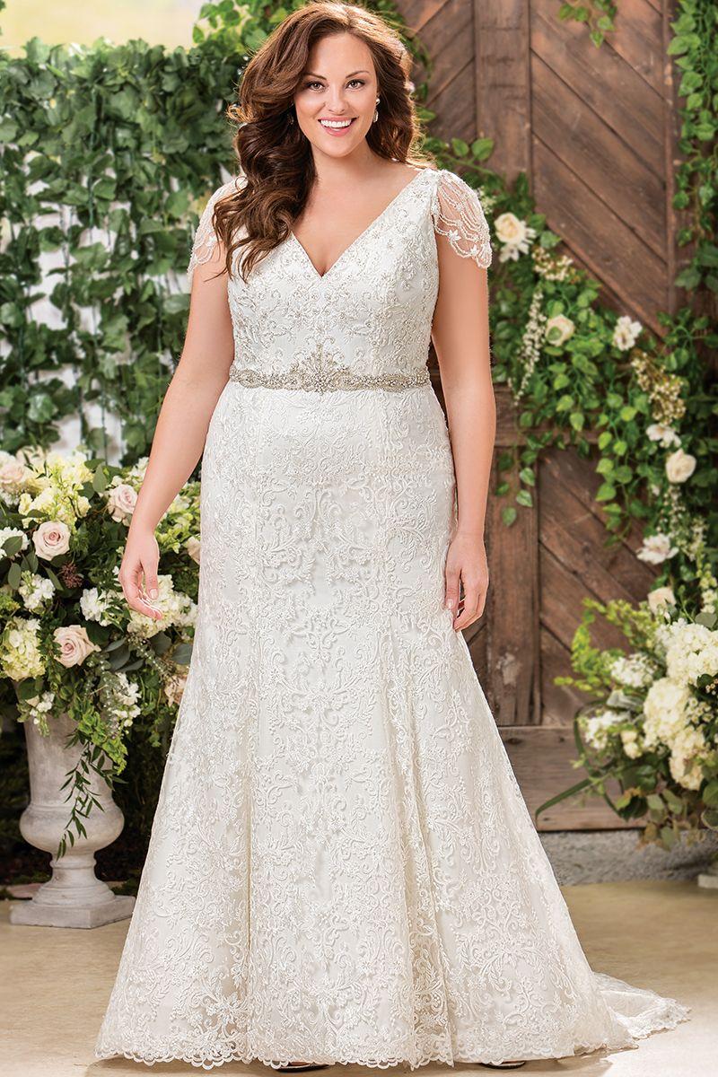 Wedding dresses for curvy brides  Wedding gown by Jasmine Bridal  Every womenus dream  Pinterest