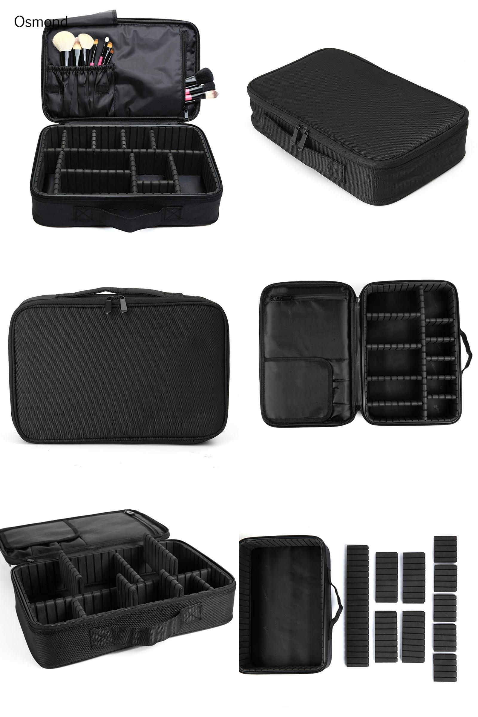 3bed59e7d7  Visit to Buy  Osmond Makeup Brush Bag Case Make Up Organizer Toiletry Bag  Storage
