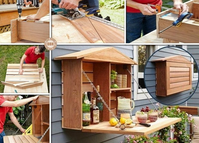 How To Build Your Own Fold Down Murphy Bar Home And Garden Backyard Outdoor Living