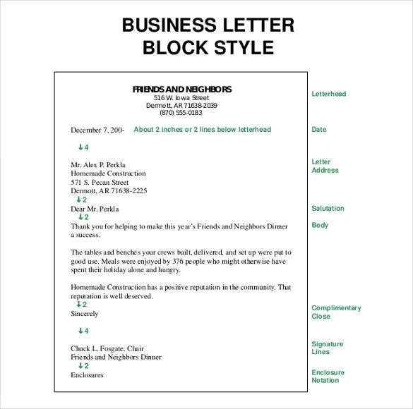 business letter template free word pdf documents format english - how to format a letter