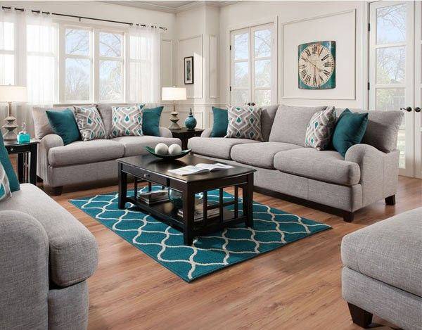 Pin By Greatfurnituredeal On Franklin Furniture Teal Living Rooms Home Living Room Living Room Sets