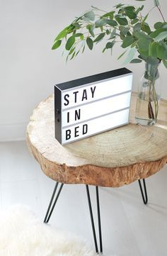 Diy Tree Slice Hairpin Table Diy Furniture Tree Slices Diy
