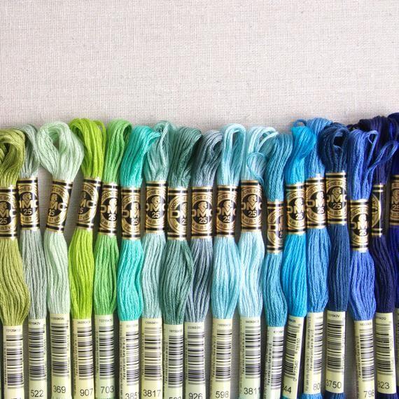 DMC Embroidery Floss // Stitching Supplies, Colorful Threads, Needlepunch Supply, Cross Stitch, Wool Felt, Embroidery Skein, String Art #embroideryfloss