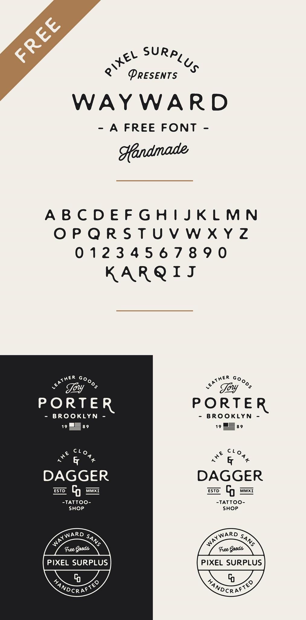 Wayward – Free   Typography / Font   Aesthetic fonts