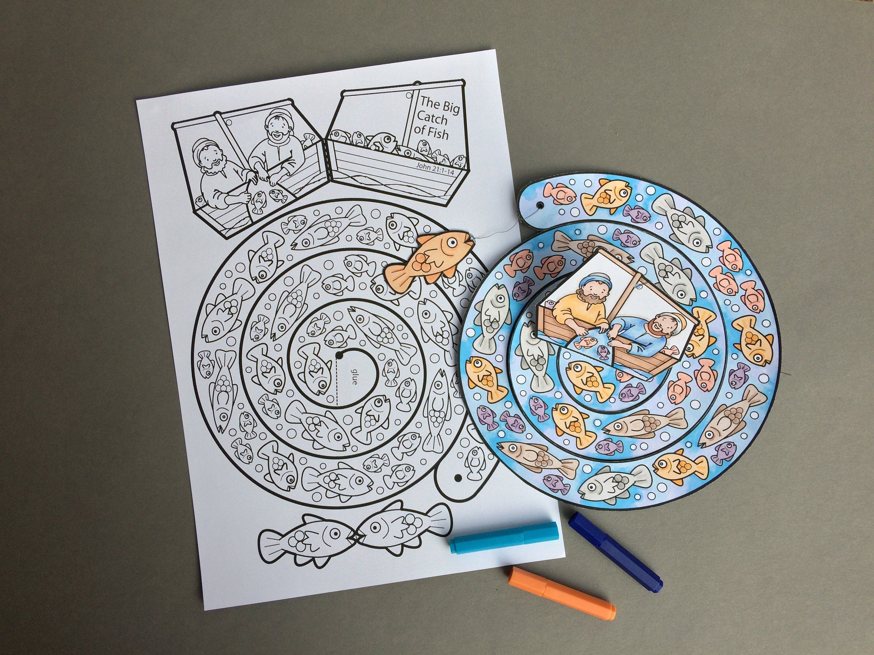 The Big Catch Of Fish Colour In Mobile Colouring Page Based On