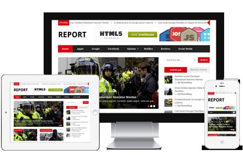 Report A Dual Column News Magazine Responsive WordPress Theme | News ...