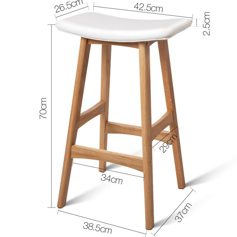 Set Of 2 Oak Wood Bar Stools White Wood Bar Stools Wooden Bar