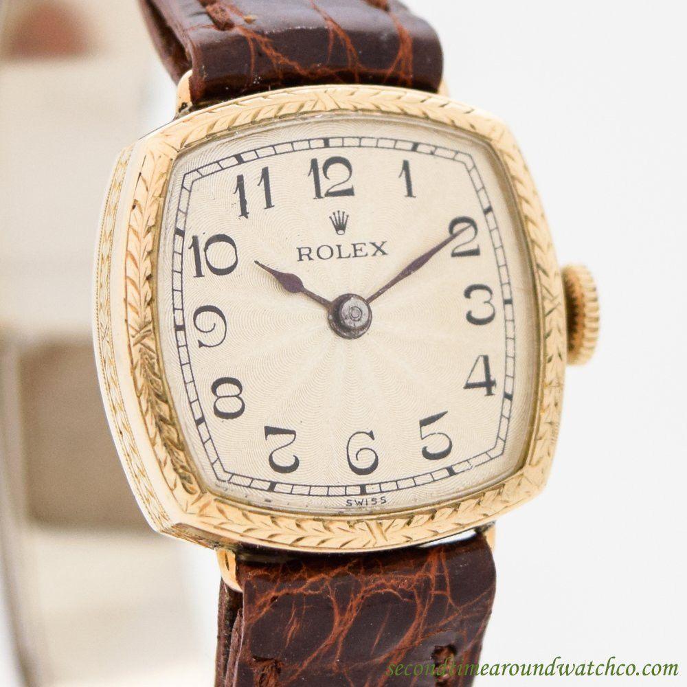 67a2c5d397c 1920's-30's Vintage Rolex Ladies 9K Yellow Gold Watch | +Vintage ...