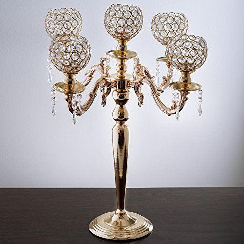 Efavormart 25 Tall Candelabra Chandelier Crystal Votive Candle Holder Wedding Tall Candle Holders Crystal Votive Candle Holders Tall Candle Holder Centerpiece