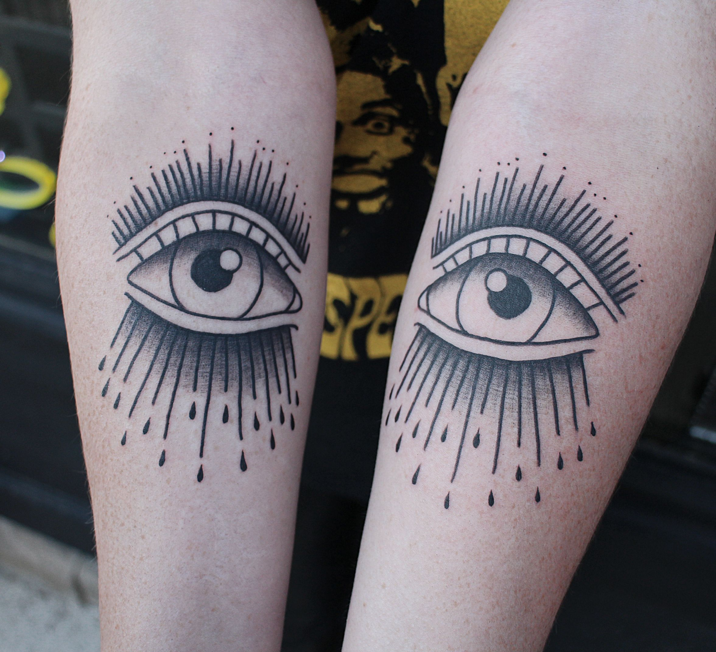 Eyes on Forearm by Jacqueline May (me) at Tattoo People