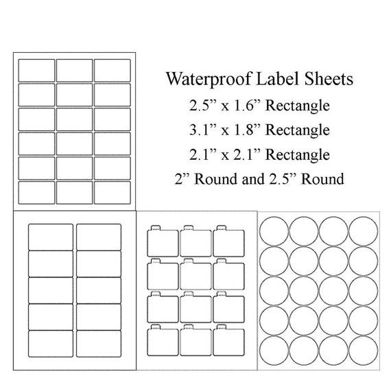 photo about Printable Label Sheets identified as Blank Label Sheets, Water resistant Labels, Vinyl Labels, Jar