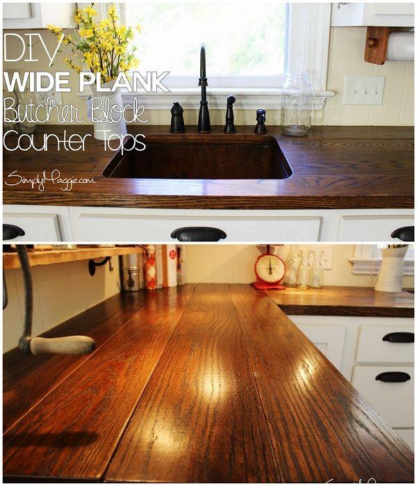 20 Easy Countertop DIY Tutorials To Revamp Your Kitchen | Countertop, Wide  Plank And Diy Countertops