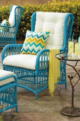 Hayden Wing Chair And Ottoman With Cushions Grandin Road Patio Furniture Makeover Outdoor Furniture Outdoor Furniture Makeover