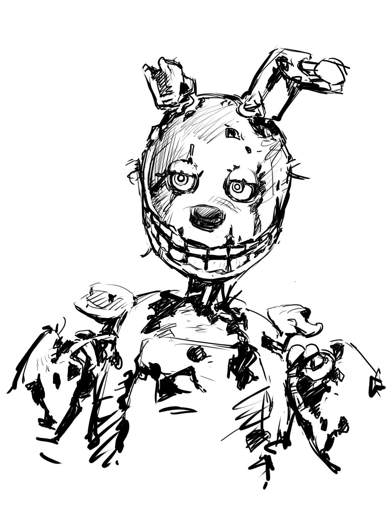 Spring Trap Coloring Page Fnaf Coloring Pages Scary Art Coloring Pages