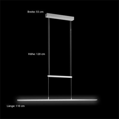 licht trend led zug h ngelampe 19w led dimmbar 110cm. Black Bedroom Furniture Sets. Home Design Ideas
