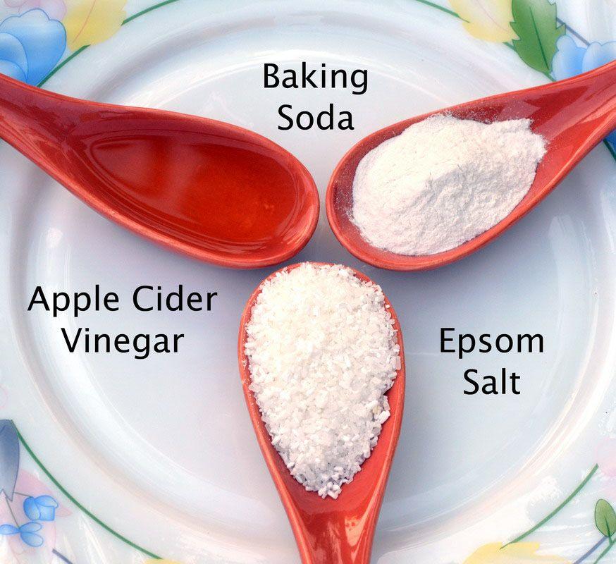 Baking Soda Epsom Salt Vinegar Organic Kitchen Gardens