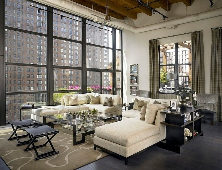 Private Loft Residence By Jamesthomas Llc Homeadore Living Room Loft Industrial Living Room Design Loft Living