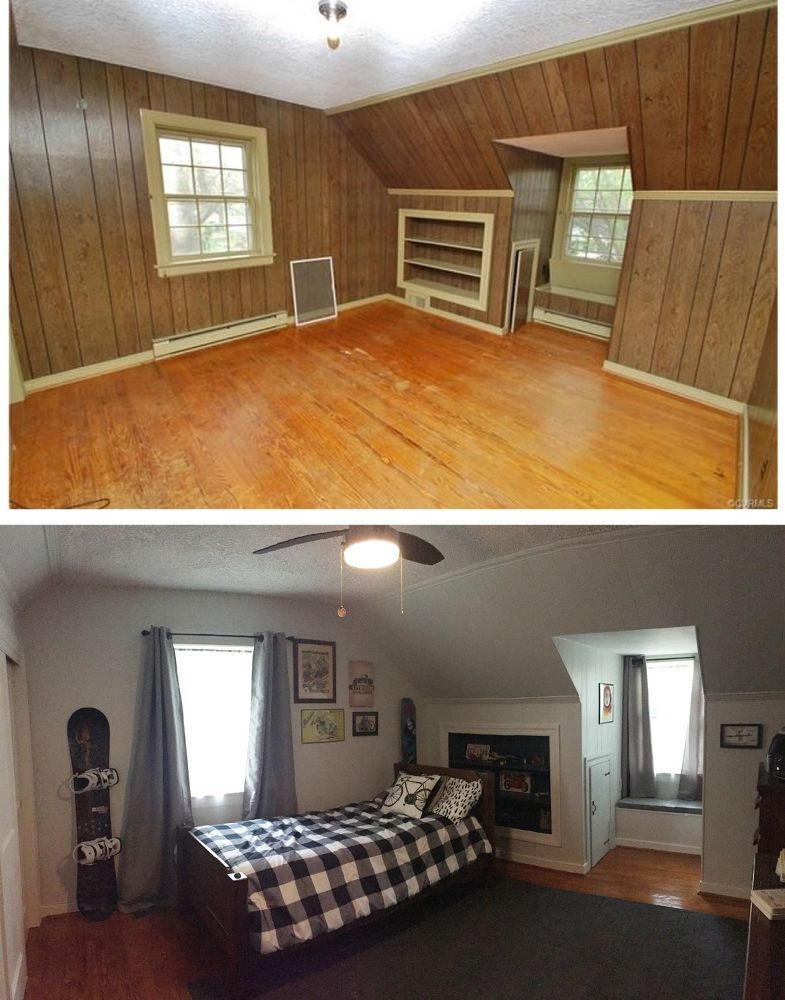 What A Difference Painting Old Wood Paneling Makes Painting