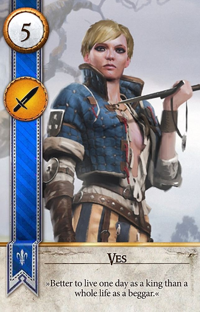 Ves gwent card the witcher 3 wild hunt the witcher - Ciri gwent card witcher 3 ...