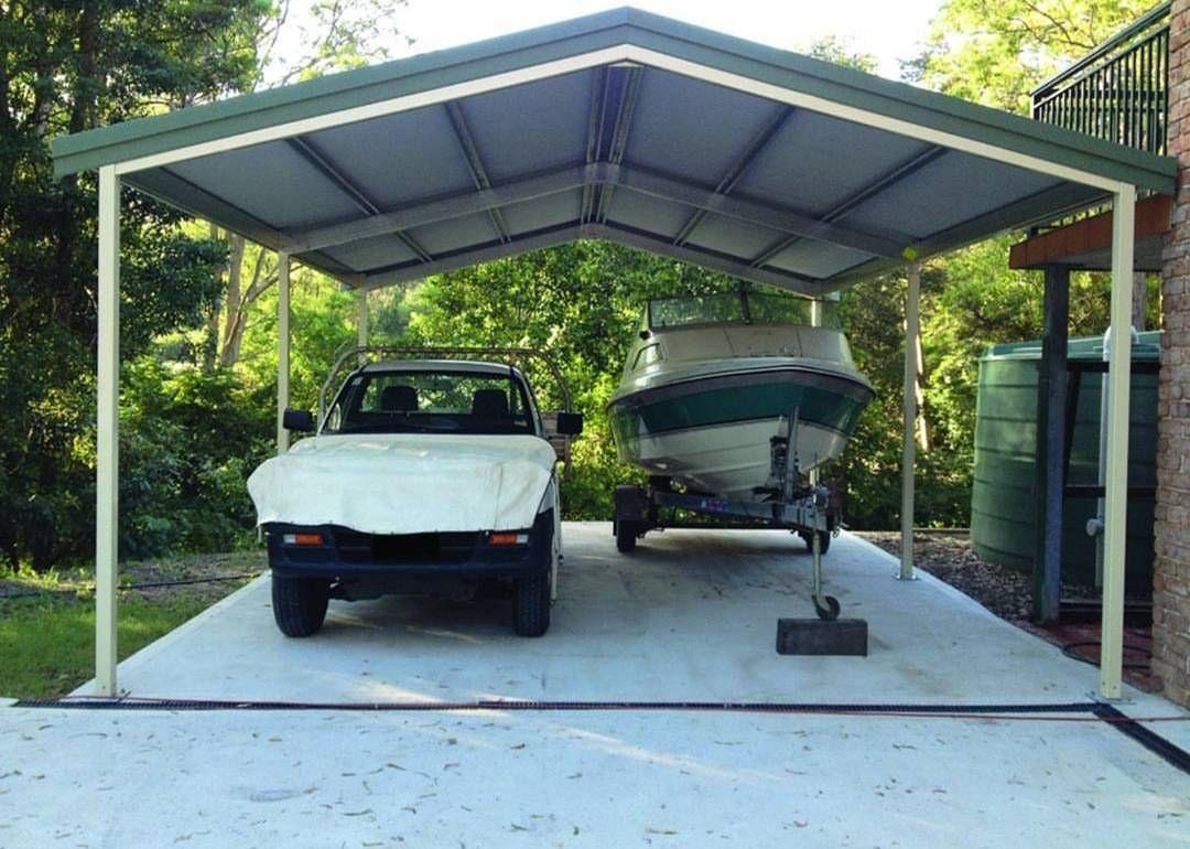 Double Gable Roof Carport 5.5m x 6m x 2.7m Genuine