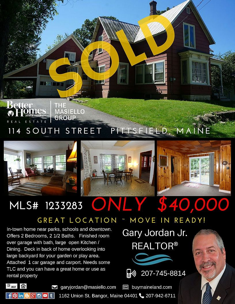 Sold In Pittsfield Maine Call To Get Your Home Sold Maine