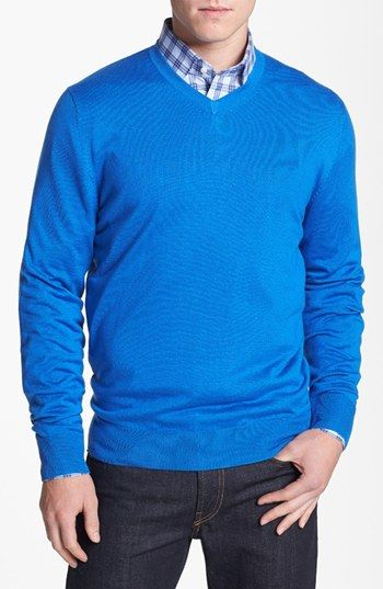 Façonnable 'Sicoca' Classique Fit Silk & Cashmere Blend Sweater available at #Nordstrom