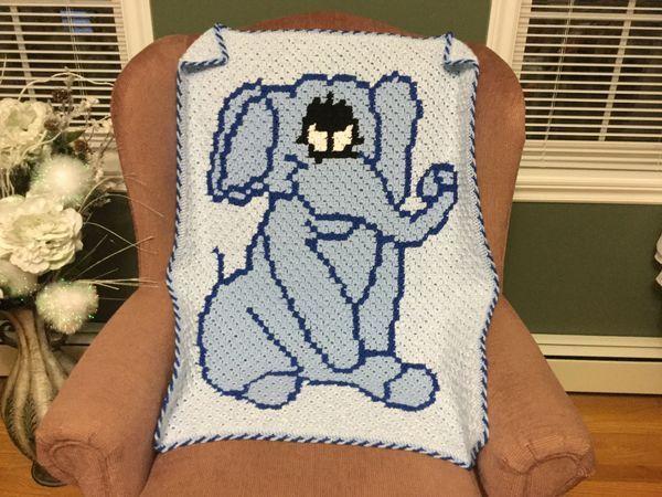 Elephant Baby Blanket C2C Crochet