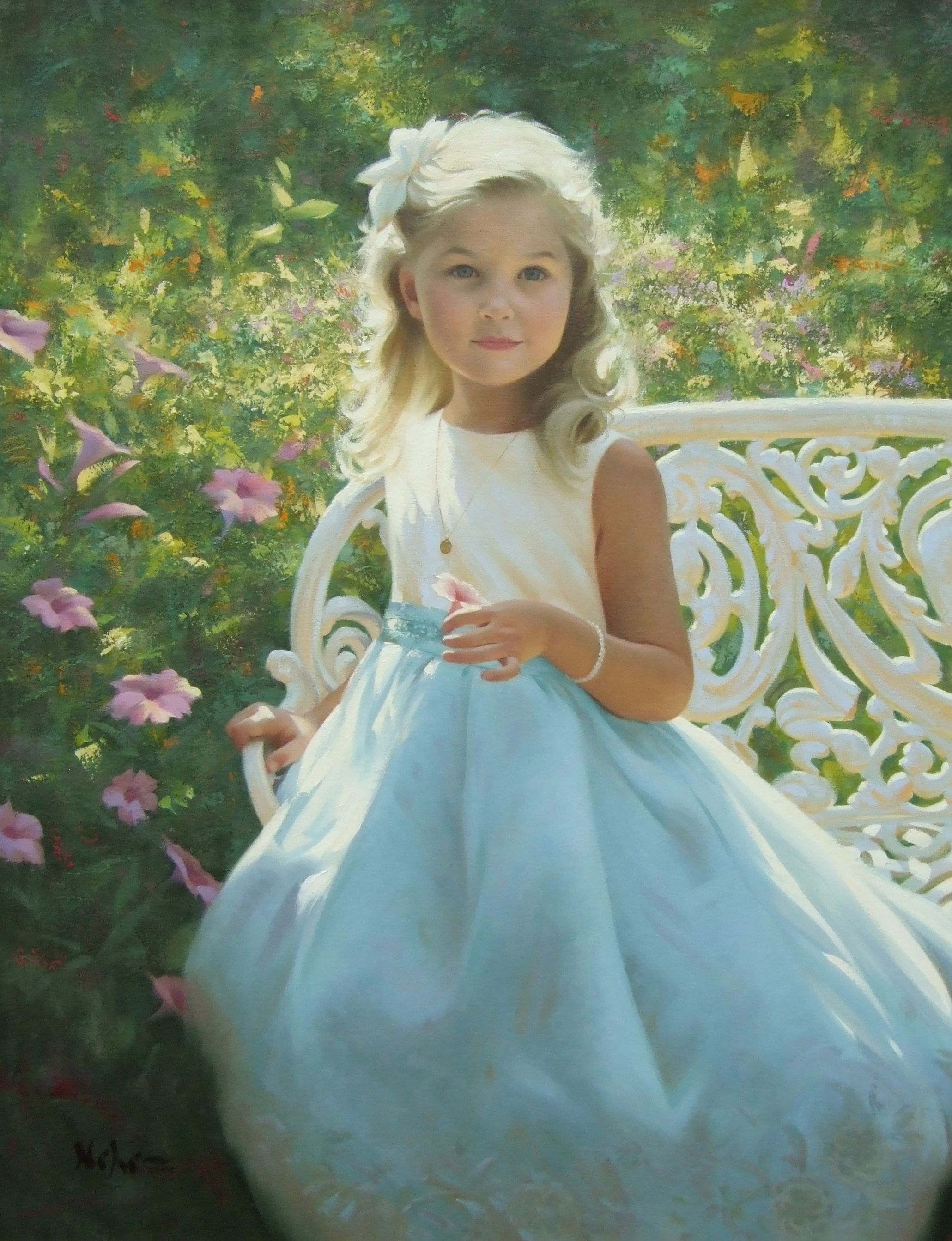 """Painting by Brian Neher, Portrait of Nora, 30"""" x 24"""", Oil on Linen www.BrianNeher.com"""