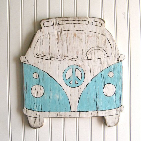 Vw Bus Sign Beach House Decor Hippie Microbus Wooden Camper Outdoor Signs