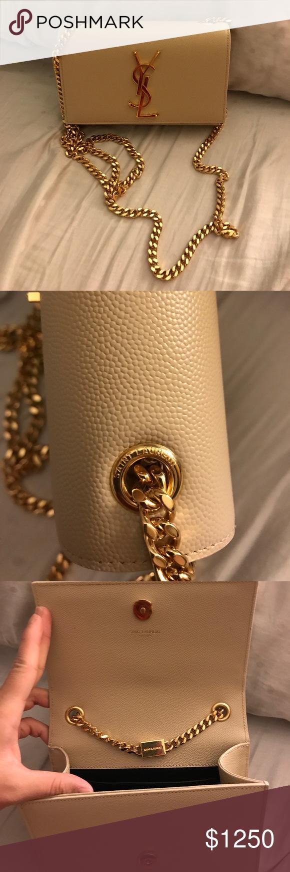 c1ba1a47cd8e Yves Saint Laurent Small Kate Chain Bag in powder PLEASE READ ‼ Authentic  Yves Saint